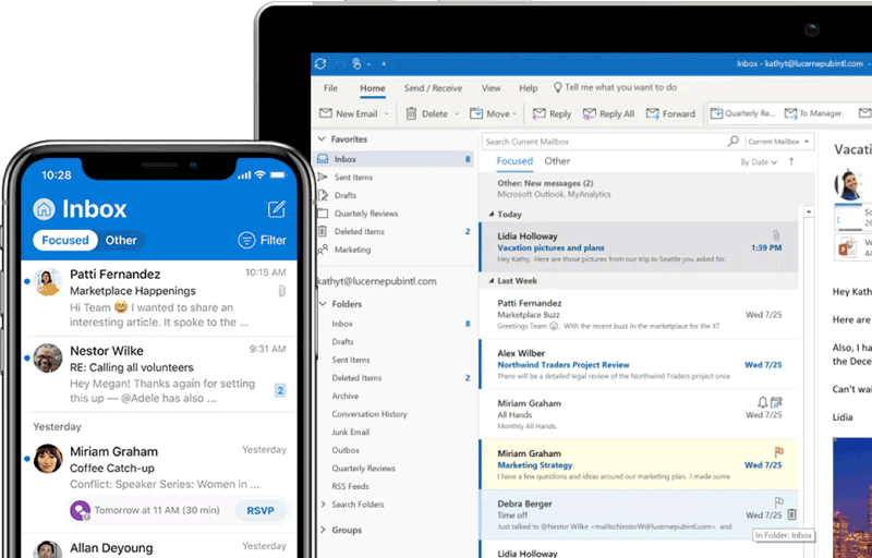 informatique messagerie email outlook