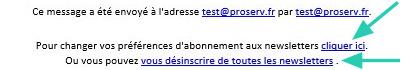 phplist newsletter désinscription